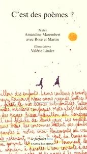 Amandine Marembert et Valérie Linder - C'est des poèmes ?.