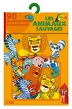 Amandine Piu - Les animaux sauvages - 90 gommettes autocollantes.