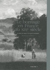 Ambroise Garlopeau - Le bornage en France au XIXe siècle - La mise en espace du droit de propriété Volume 1.