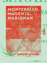 Amédée Achard - Montebello, Magenta, Marignan - Lettres d'Italie - Mai et juin 1859.