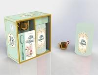 Amelia Wasiliev - Coffret Un thé à l'abbaye - Le livre de recettes avec 1 boîte à thé hermétique et 1 boule à thé.