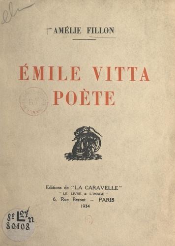 Émile Vitta, poète