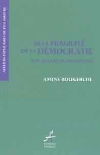 Amine Boukerche - De la fragilité de la démocratie - Une lecture de Tocqueville.