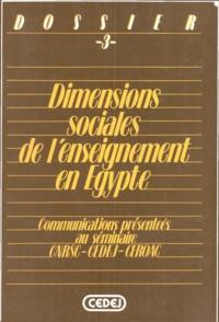 Amira Machhour et Olivier Lemoine - Dimensions sociales de l'enseignement en Égypte.