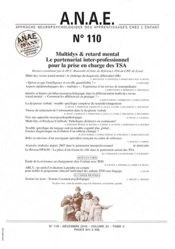 C. Rousselle - ANAE N° 110, Décembre 201 : Multidys & retard mental - Le partenariat inter-professionnel pour la prise en charge des TSA.