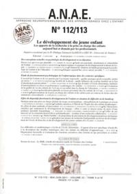 Philippe Guimard - ANAE N° 112/113, Mai-juin : Le développement du jeune enfant - Les apports de la recherche à la prise en charge des enfants aujourd'hui et demain par les professionnels.