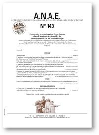 Céline Clément - ANAE N° 143, octobre 2016 : Construire la collaboration école-famille dans le contexte des troubles du développement et des apprentissages.