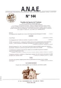 Ghislain Magerotte et Philippe Evrard - ANAE N° 144, novembre 201 : Troubles du spectre de l'autisme.
