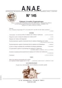 Stéphane Auvin et Christine Bulteau - ANAE N° 145, décembre 201 : Epilepsie et troubles des apprentissages.