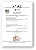 Jean-Michel Albaret - ANAE N° 153, mai 2018 : Sciences et psychomotricité.