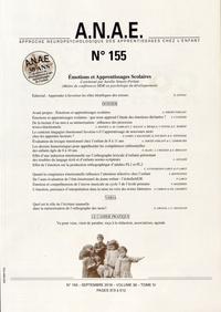 Aurélie Simoës-Perlant - ANAE N° 155, septembre 20 : Emotions et apprentissages scolaires.