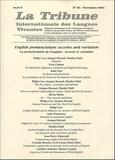 Jean-Pierre Attal et  Collectif - La Tribune Internationale des Langues Vivantes N° 36, Novembre 2004 : La prononciation de l'anglais - Accents et variation.