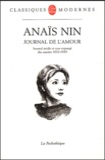 Anaïs Nin - Journal de l'amour 1932-1939.
