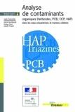 Analyse des contaminants organiques dans les eaux estuariennes et marines cotieres.