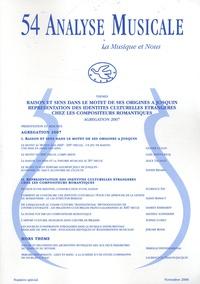 Mihu Iliescu et Laurence Le Diagon-Jacquin - Analyse Musicale N° 54, Novembre 2006 : .