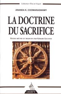 Ananda K. Coomaraswamy - La doctrine du sacrifice.