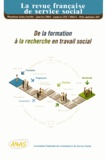 Elsa Melon - La revue française de service social N° 252, janvier 2014 : De la formation à la recherche en travail social.