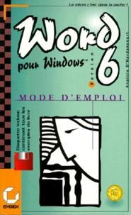 Anatole d' Hardancourt - MICROSOFT WORD 6 POUR WINDOWS. - Avec une disquette.