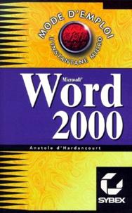 Anatole d' Hardancourt - Word 2000.