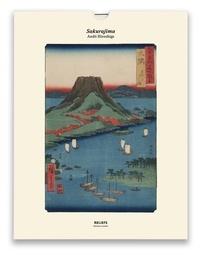 Andô Hiroshige - Sakurajima, Vues des sites célèbres des soixante et quelques provinces du Japon (1853-1856) - Une illustration imprimée sur un papier de création avec un livret autour de l'oeuvre.