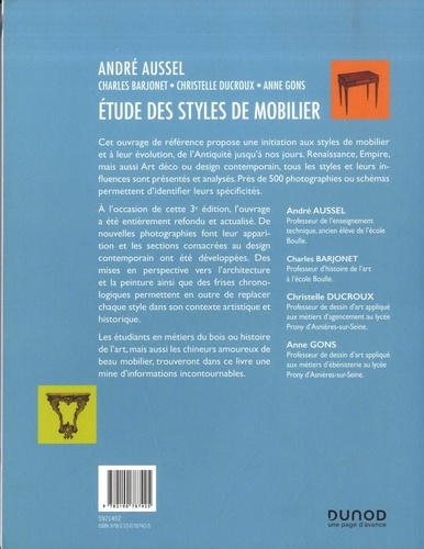 Etude des styles de mobilier 3e édition
