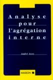 André Avez - Analyse pour l'agrégation interne.