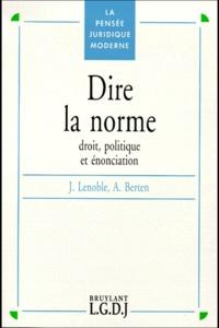 André Berten et Jacques Lenoble - .