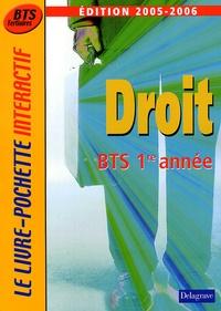 André Bollard et Philippe Idelovici - Droit 1e année BTS Tertiaires.
