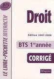 André Bollard et Véronique Deltombe - Droit BTS tertiaires 1ère année - Livre du professeur.