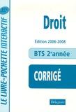 André Bollard et Véronique Deltombe - Droit BTS Tertiaires 2e année - Livre du professeur.