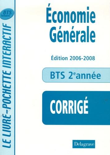 André Bollard et Bernard Epailly - Economie générale 2e année BTS Tertiaires - Livre du professeur.