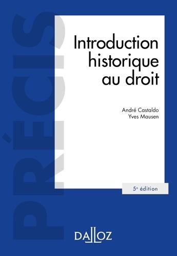Introduction historique au droit - 5e éd.