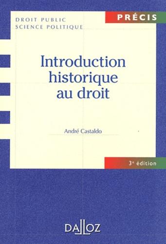 Introduction historique au droit 3e édition