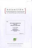 André Ducoulombier - Nettoyage et désinfection dans les industries alimentaires.