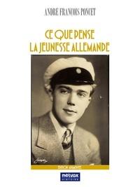 André François-Poncet - Ce que pense la jeunesse allemande.