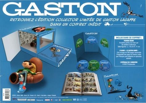 Gaston  Coffret figurine en résine + livre -  avec 6 DVD