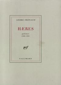 Haeres Poèmes 1968 1981 Grand Format