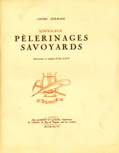 André Germain - Nouveaux pélerinages savoyards.