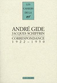 André Gide et Jacques Schiffrin - Correspondance 1922-1950.