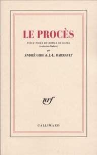 André Gide et  Barrault - Le procès.