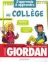 André Giordan - J'apprends à apprendre au collège.