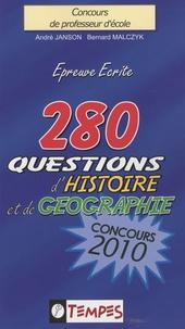 Histoiresdenlire.be 280 questions d'histoire et de géographie - Concours 2010 Image