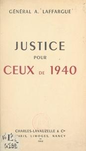 André Laffargue - Justice pour ceux de 1940.