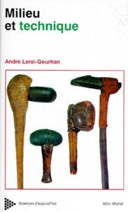 André Leroi-Gourhan - Milieu et techniques - Evolution et techniques, 622 dessins de l'auteur.