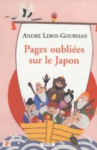 André Leroi-Gourhan - Pages oubliées sur le Japon.
