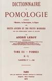 André Leroy - Dictionnaire de pomologie - Tome 3, Pommes A-L.