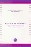 André-Marcel d' Ans - Langage et Politique : les mots de la démocratie dans les pays du sud de l'espace francophone.
