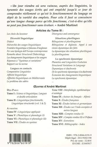 Oeuvres. Tome 3, La dynamique linguistique