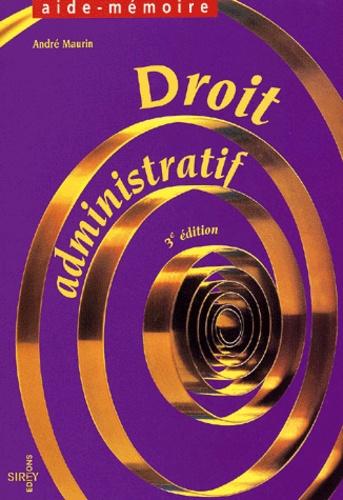 Droit administratif 3e édition