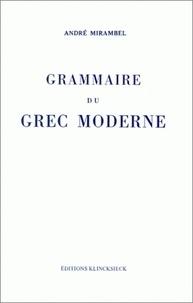 Accentsonline.fr Grammaire du grec moderne - Par André Mirambel,.. Image